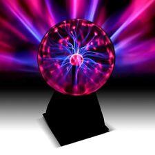 """Palla al plasma 6"""" LIGHTNING BOLT effetti Divertente Touch soffuse regalo scientifici"""