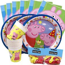 Peppa Pig Partyset 64teilig mit Tellern Bechern Luftballons und Servietten