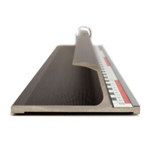 GraphicPro Heavy Cutter 4mm Aluminium Cutting Ruler 100cm Non-Slip Safety Bar
