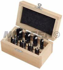 8 piece wood plug cutter set in wooden case