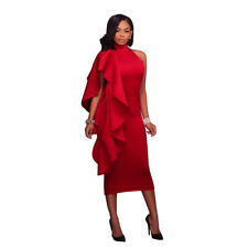 Women Bodycon Ruffle Pencil Dress Cocktail Wedding Pageant Evening Party Dresses