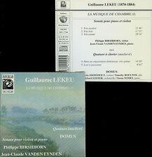 LEKEU  sonate, quatuor  HIRSHHORN, VANDEN HEYNDEN, QUATUOR DOMUS