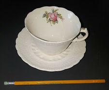 """Vintage SPODE Copeland Jewel """"Billingsley Rose"""" Tea Cup & Saucer"""