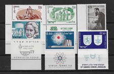 Israel 1960 kleines Lot 6 Werte mit Tab postfrisch