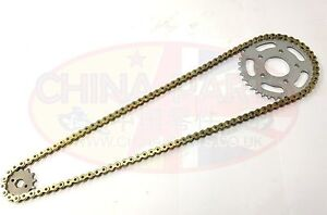 Heavy Duty Chain & Sprockets Set Gold for WK125 RR