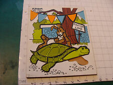 Vintage Frame WOODEN Puzzle: PLAYSKOOL Tortoise and the Hare missing one piece