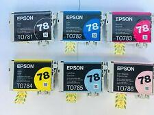 New Genuine Epson 78 Black & Color 6pk, Stylus Photo R260, Stylus Photo RX580