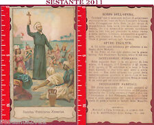 1245 SANTINO HOLY CARD SANCTUS FRANCISCUS XAVERIUS S. FRANCESCO SAVERIO CURIA