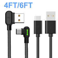 USB-C Type C FAST Charging Sync Charger Cable For Samsung Galaxy S10 S9 Note 9 8