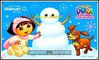 WALMART NICKELODEON DORA EXPLORER MAKING SNOWMAN #FD23666 COLLECTIBLE GIFT CARD For Sale