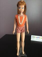 Vintage Barbie Doll Skipper 1963 Japan Knees Bend Red Hair