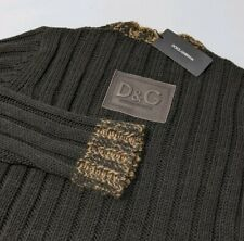 New Dolce & Gabbana Mens Spellout Jumper Wool Cable Knit Sweater Sz L RRP £875