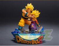 Dragon Ball Son Goku & Son Gohan KaMeHaMeHa 17cm PVC Figure Model Statue Toy