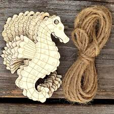 10x Wooden Seahorse Craft Shapes 3mm Plywood