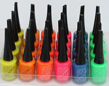 Leticia Well nail Polish New spring lot of SIX COLORS Blue orange Pink red NEON