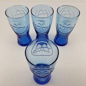 Blue Replica 1961 McDonalds Glasses 14 Ounce Capacity Set Of 4 Tumblers