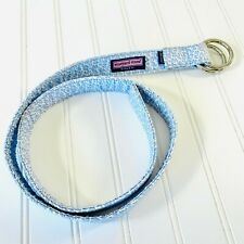 Vineyard Vines Womens Fabric Belt Blue White 100% Cotton 44""