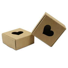 Hollow Kraft Paper Heart Box Wedding Crafts Gift Jewelry Food Packaging Pouches