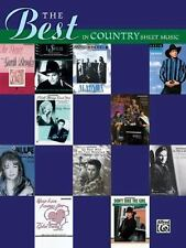 The Best in Country Sheet Music: Piano/Vocal/Chord