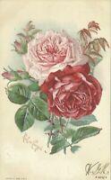 Paul De Longpre Artist Signed Floral Flower Art 1906 Postcard
