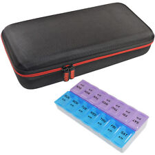 HQRP Hard Case and Pill Organizer for Stethoscope