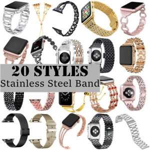 Stainless Steel Link Chain Wrist Band Strap Accessory For Apple Watch 5 4 3 2 1