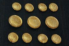 Gold Metal Blazer Buttons Set For Suit Sport Coat