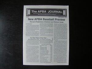 THE APBA JOURNAL Dec 1992~ AJ New APBA Baseball Review - All Sports-