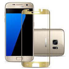 Schutzglas 3D Curved Für Samsung Galaxy S7 Edge Glasfolie Curved Display Gold