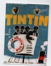 Carte Postale Tintin. Affiche du film Le Mystère de la Toison d'Or - 2016