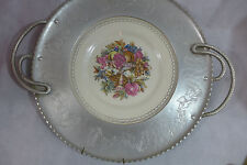 Vintage Triumph Farberware Etched Aluminum Tray  Limoges 22 K  Large Platter