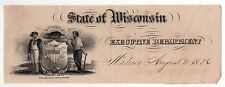 Rare State Of Wisconsin Executive Department Letterhead 1836 Government Madison