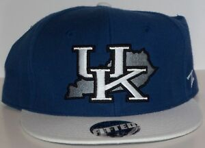 Kentucky Wildcats State Logo Zephyr 32/5 Chopped Fitted Hat Cap 7 3/4