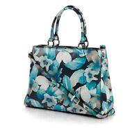 Jack French London Park Black Floral Leather Ladies Handbag RRP £224