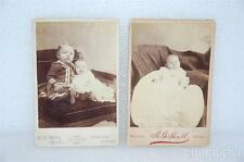 2 Antique Photographs 1800/1900s Broken Bow Nebraska Gallaway Lohr Hall's Studio