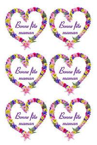 Planche de stickers BONNE FETE MAMAN - Adhésif adhesive autocollant fête mères 2