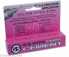 G-S Hypo FABRIC Cement Glue Rhinestone Crystal Craft Jewelry Adhesive 1/3 oz GS