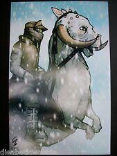 Grand Gould Star Wars Taun-Taun Luke Exclusive art print poster rare SIGNED