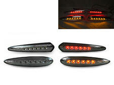 AMBER LED FRONT SIDE MARKERS +RED REAR SMOKE SIDE MARKER FOR 00-03 NISSAN MAXIMA
