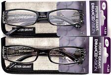 FOSTER GRANT EnhancedVision Reading Glasses +1.25 *SET OF 2* 50-18-132 (B7)>NEW<