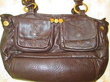 Designer BUTTERFLY by Matthew Williamson Leather Brown Shoulder Bag