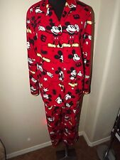 Women's Size XL Mickey Mouse Fleece Pajamas Set Disney Sleepwear - WARM AND FUN