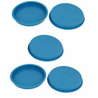 125mm Flange Mounted Tapered Hole Stoppers Waterproof Caps Blue 5pcs