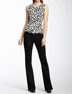 New $130 Christopher Blue Women's Valley Flare Jeans - Black, Low Rise