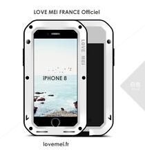 Coque Antichoc blindée iPHONE 8 - LOVE MEI FRANCE - étanche - BLANC