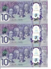 (5)- 2017 Consecutive Serial Number 150 Anniversary Ten Dollar+0thers new tens +