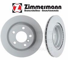 BMW F22 F23 F30 F32 Pair Set of 2 Rear Vented Brake Disc Rotors Zimmermann CoatZ