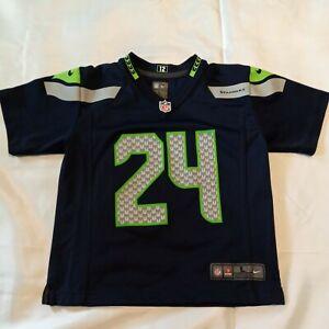 Nike Marshawn Lynch Seattle Seahawks On Field Jersey Size Youth L Large (7)