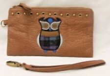 MUDD WRISTLET WITH EMBROIDERED OWL DESIGN-WITH WRIST STRAP--NWOT