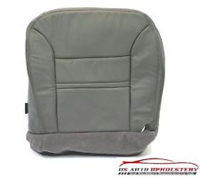 2000 2001 Ford Excursion Limited DRIVER Bottom LEATHER Seat Cover Pewter Pattern